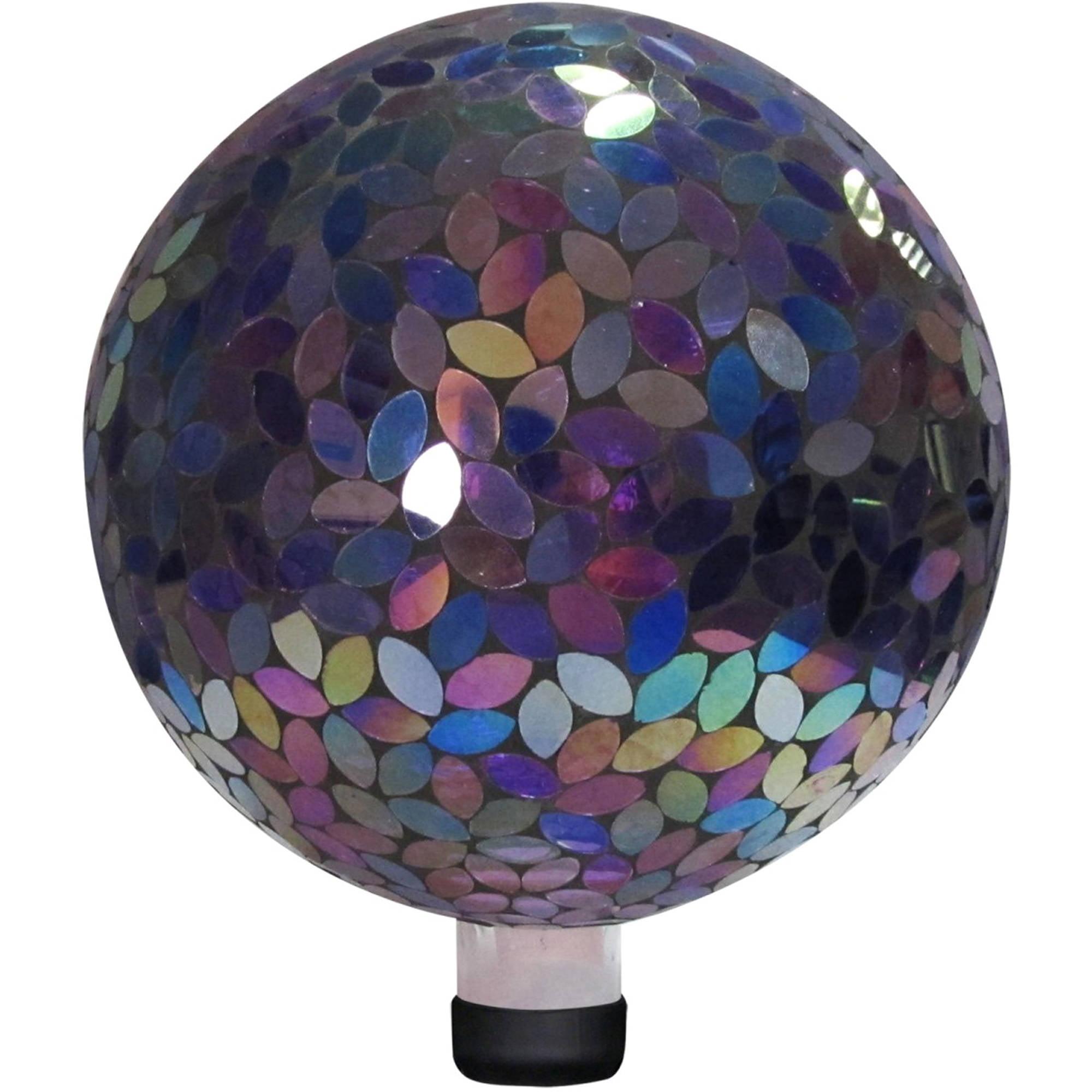 """10"""" Mosaic Gazing Ball, Purple"""