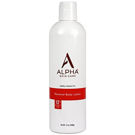 Alpha Skincare Revitalizing Body Lotion 12% Glycolic AHA pH 4, 12 Oz Care Aha Body Smoothing Lotion