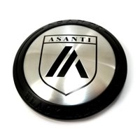 """Asanti Black Label Satin Black 3-1/8"""" Snap-In Wheel Center Hub Cap"""
