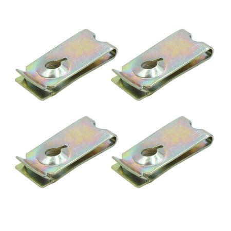4pc vis métal Auto Fixation Capot Pare-Choc Fixation Clip Rivet Aile - image 3 de 3