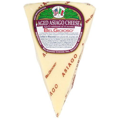Bel Gioioso Aged Asiago Cheese, 8 oz
