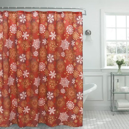 The Holiday Aisle Snowflakes Christmas Shower Curtain