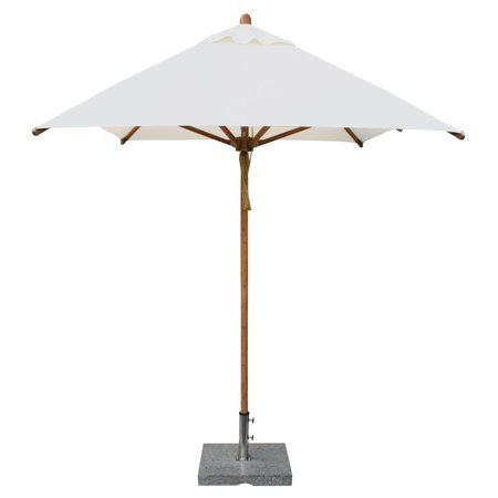 Rectangular Bamboo Market Patio Umbrella With 2 In Pole Diameter