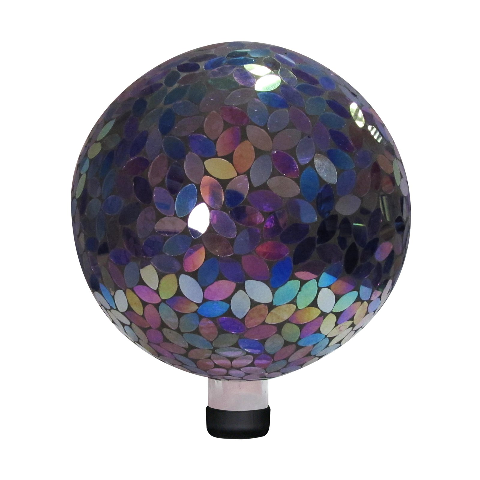 "10"" Mosaic Gazing Ball, Purple by Alpine Corporation"