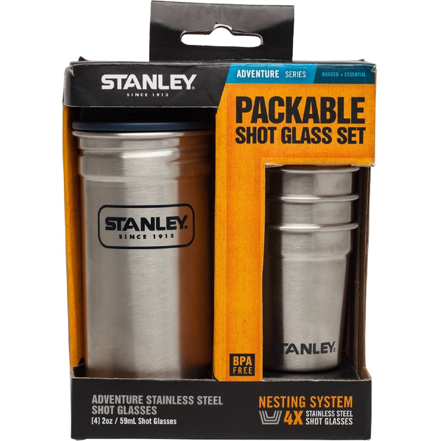 Stanley Stainless Steel Shot Glass Set, Stainless Steel