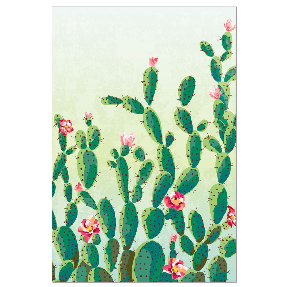 Tree-Free Greetings Cactus Flower Boxed ECOnotes Blank Note Cards-FS56297