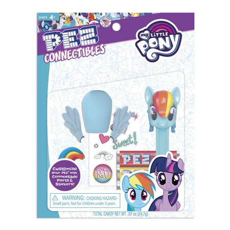 Pez Candy, My Little Pony Connectibles, Novelty Candy and Dispensers, 0.87 Oz