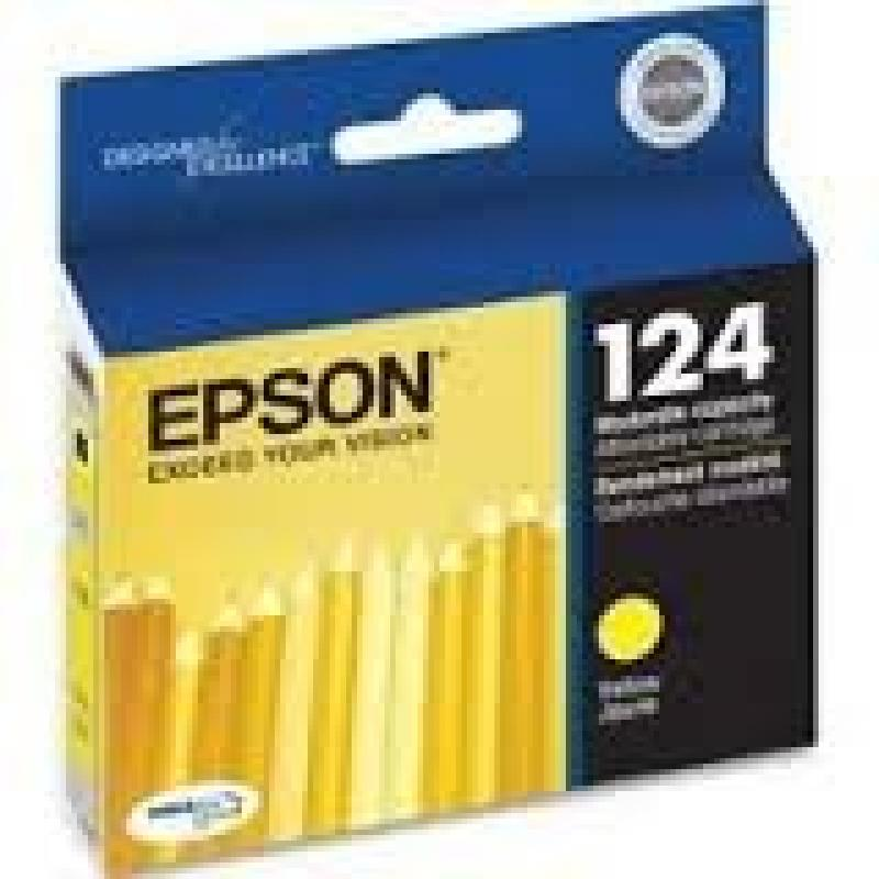 Epson Genuine Brand Name, OEM T124420 124 Yellow Ink Cart...