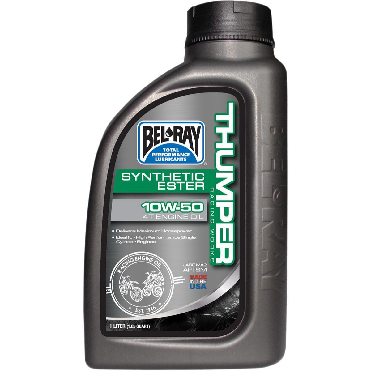Bel-Ray 99551-B1LW Thumper Racing Works Full Synthetic Ester 4T Engine Oil - 10W60 - 1L.