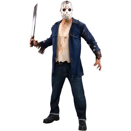 Adult Deluxe Friday the 13th Jason Costume Rubies 889071 for $<!---->