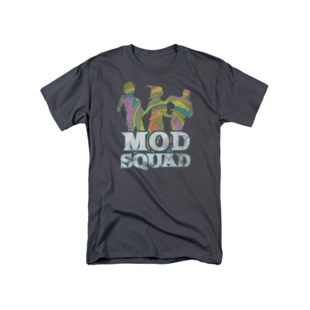 Mod Squad 60's CBS TV Series Mod Squad Run Groovy Adult T-Shirt Tee - 60's Clothes Men