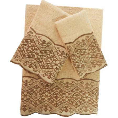 Fleur De Lis Living Shultz 3 Piece 100pct Cotton Towel Set
