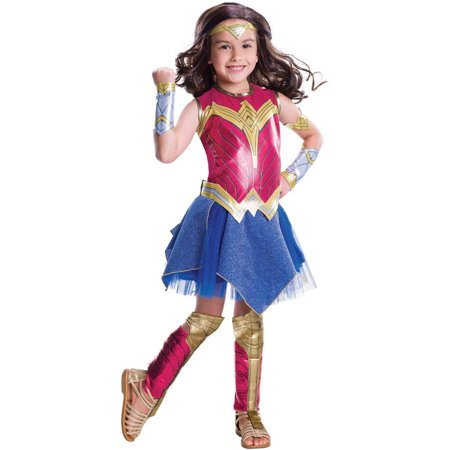 Batman Vs Superman: Dawn of Justice Deluxe Wonder Woman Child Halloween Costume (Waldo Girl Costume)