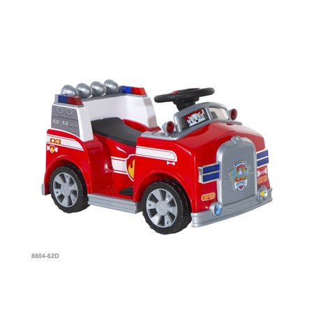 6 Volt Paw Patrol Marshall Quad (Paw Patrol Marshall Fire Truck Ride On)