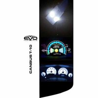 CIPA White T-10 LED Bulbs with Canbus