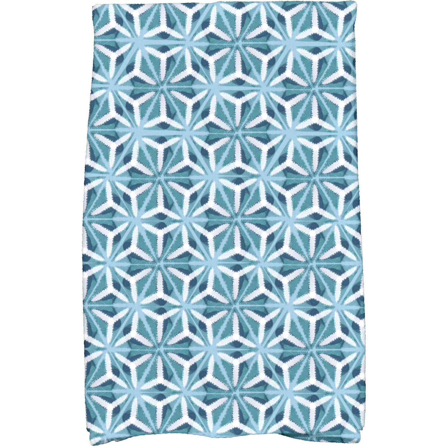 "Simply Daisy 16"" x 25"" Water Mosaic Geometric Print Kitchen Towel by E By Design"