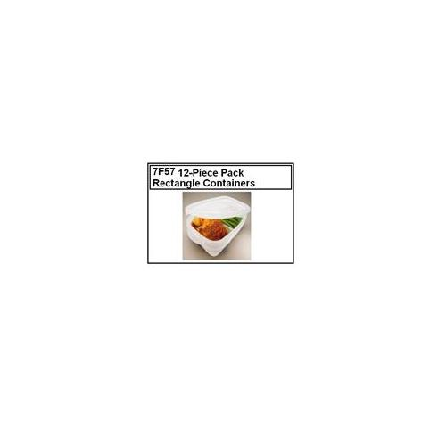 Rubbermaid Rubbermaid 7F57 4PC Rubbermaid Takealongs 7F57 12-Piece Pack of Divided Rectangle Containers
