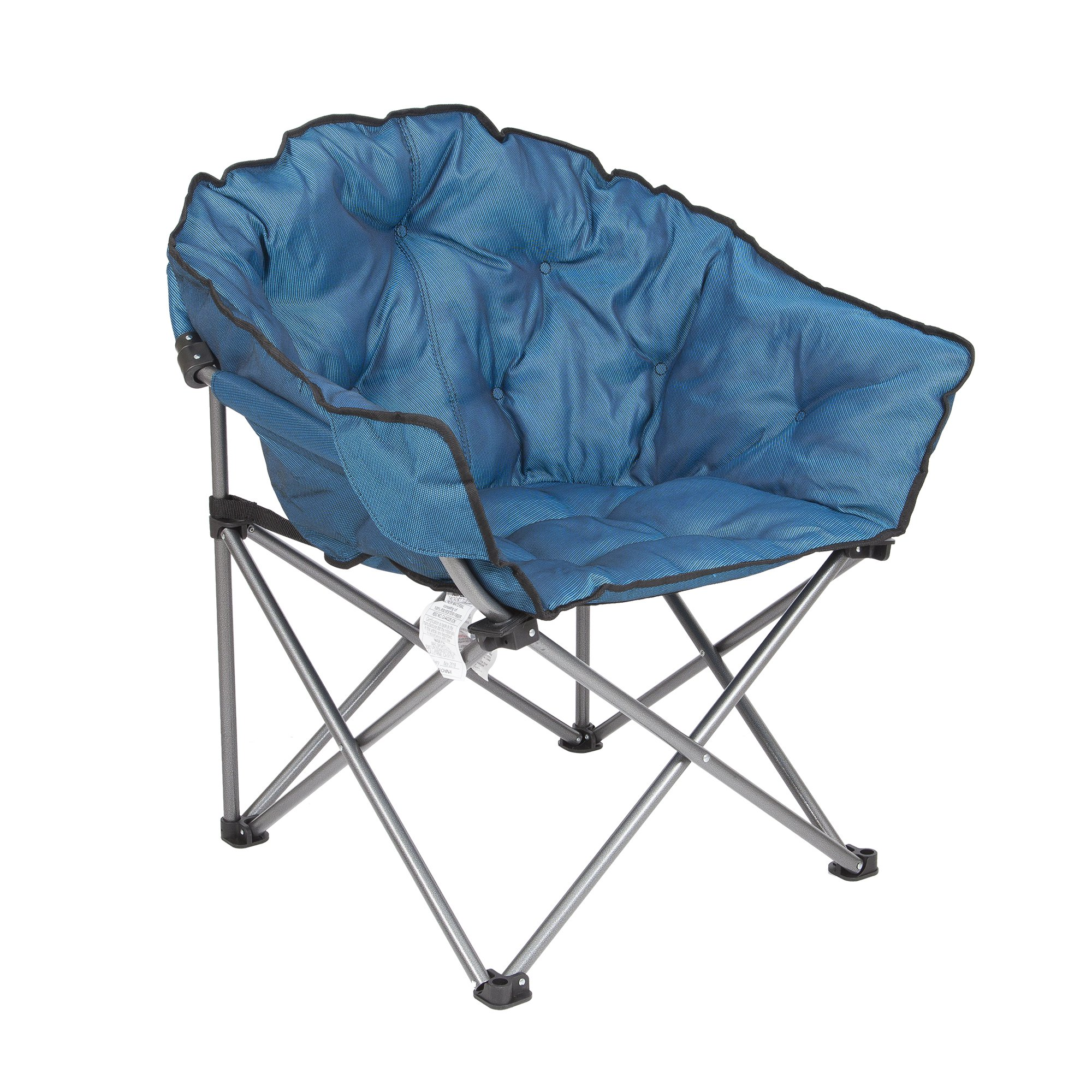 Enjoyable Mac Sports Folding Portable Padded Outdoor Club Camping Chair With Bag Blue Gmtry Best Dining Table And Chair Ideas Images Gmtryco