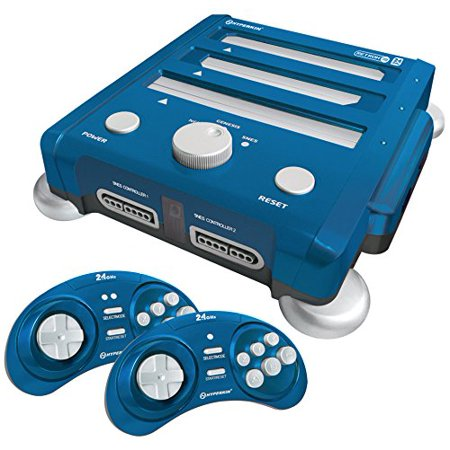 Hyperkin Snes  Genesis  Nes Retron 3 Gaming Console 2 4 Ghz Edition  Bravo Blue    Game Pad Supported   Wireless   Ac Adapter  M07168 Bb