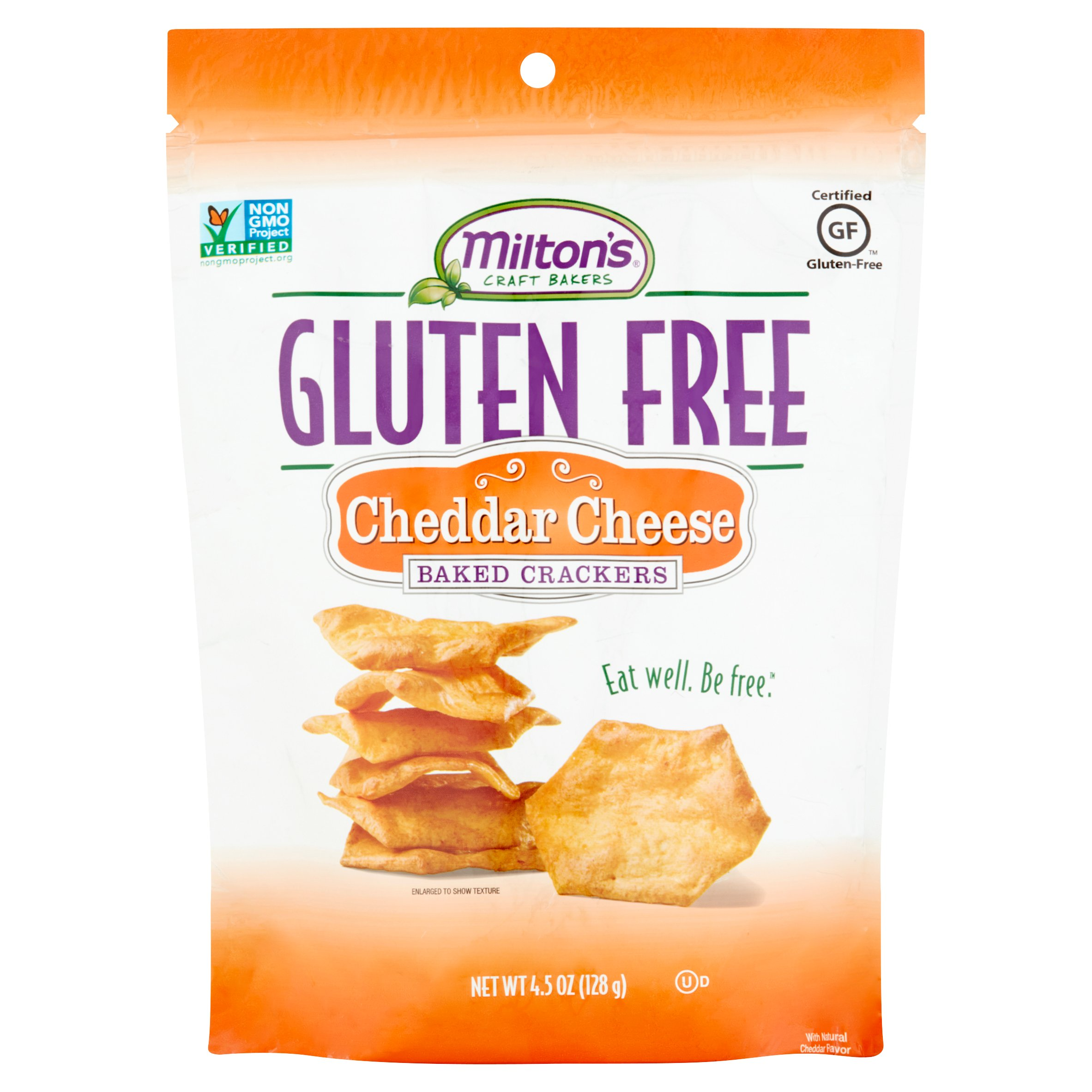 Milton's Craft Bakers Gluten Free Cheddar Cheese Baked Crackers, 4.5 oz by Milton's Baking Company