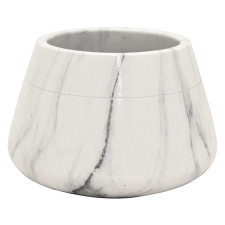 Three Hands Marble Look Round Flower Pot