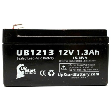 4x Pack - Revco Scientific LEGACI Battery Replacement - UB1213 Universal Sealed Lead Acid Battery (12V, 1.3Ah, 1300mAh, F1 Terminal, AGM, SLA) - Includes 8 F1 to F2 Terminal Adapters - image 2 de 4