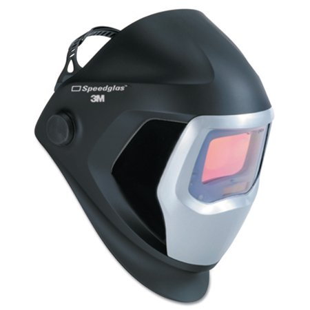 3M Personal Safety Division Speedglas 9100 Series Helmets, 8 - 13,  Black/Silver, 4 2 in x 2 1 in