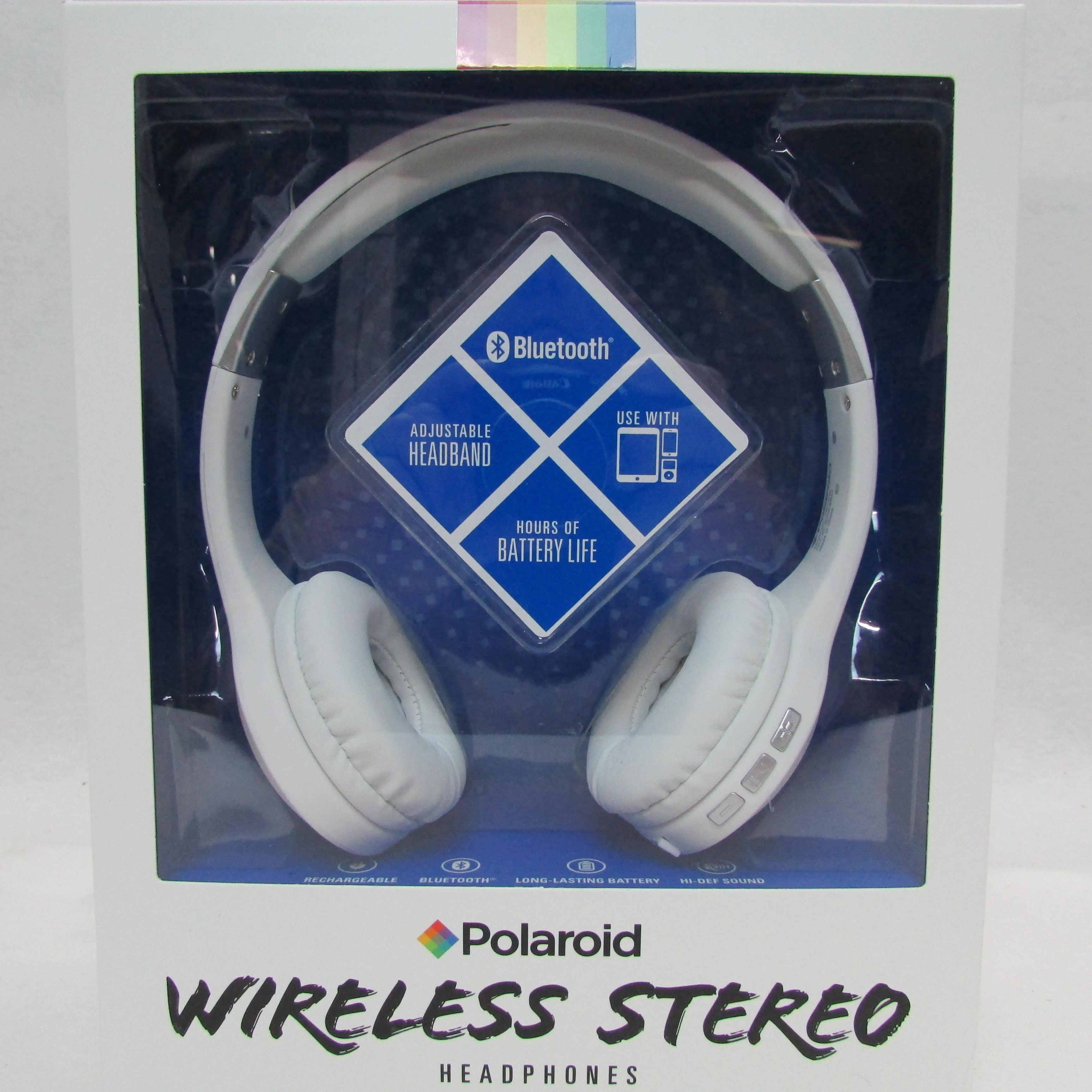 Polaroid Bluetooth Wireless Headphones White