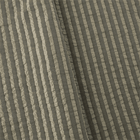 Antique Ivory/Gray Seersucker Stripe Home Decorating Fabric, Fabric By the  Yard