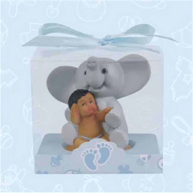 De Yi 21025K-PK Ethnic Baby Shower Elephant Favors in Pink