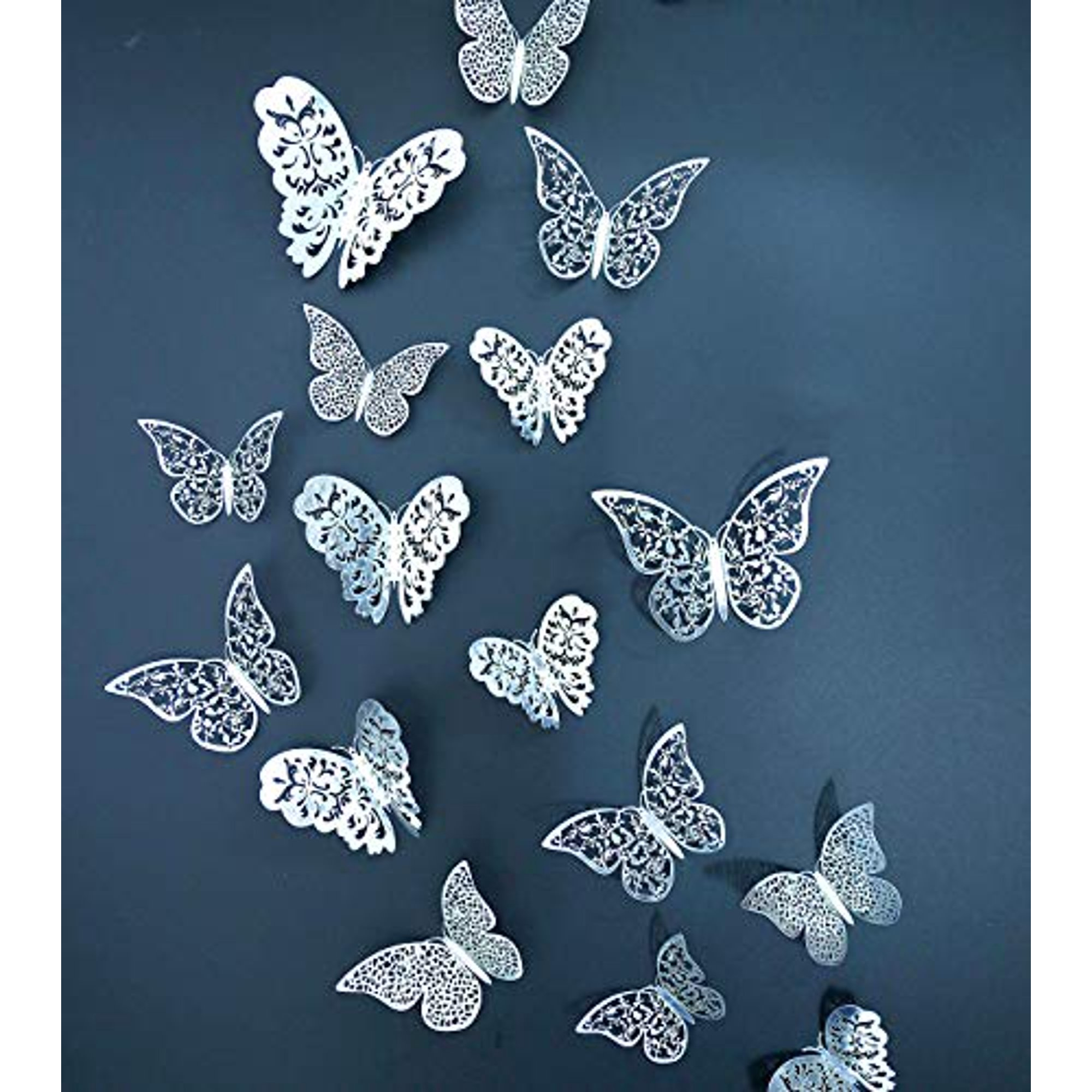 Eoorau 36pcs Silver Butterfly Wall Decals 3d Butterflies Wall Stickers Removable Mural Decor Wall Stickers Decals Wall Decor Home Decor Kids Room Bedroom Decor Living Room Decor Walmart Canada