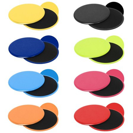2Pcs Gliding Discs Slider Fitness Disc Exercise Sliding Plate For Yoga Gym Abdominal Core Training Exercise (Green Ab Rhinestone)
