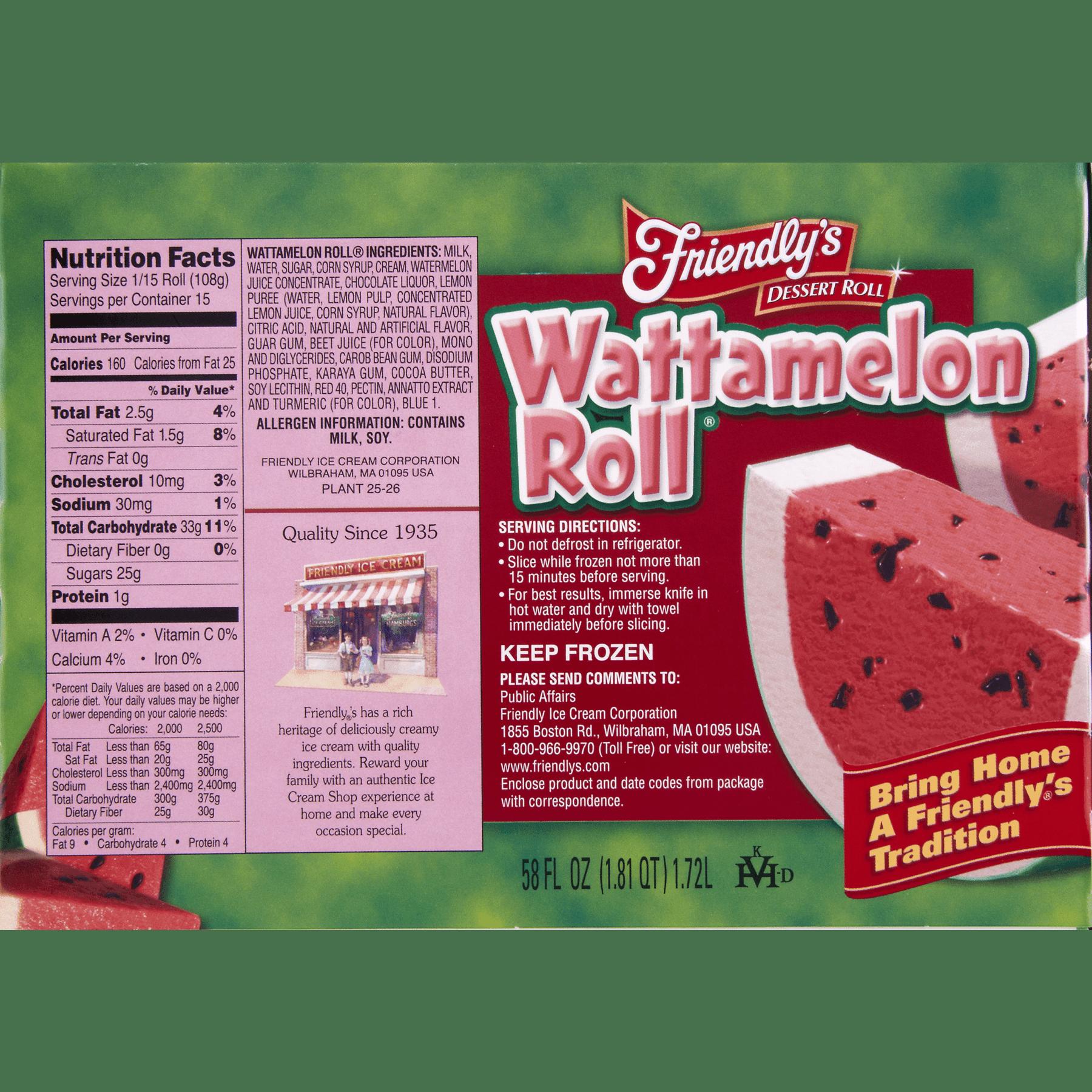Friendlys watermelon roll sherbet roll 58 fl oz box walmart ccuart Image collections