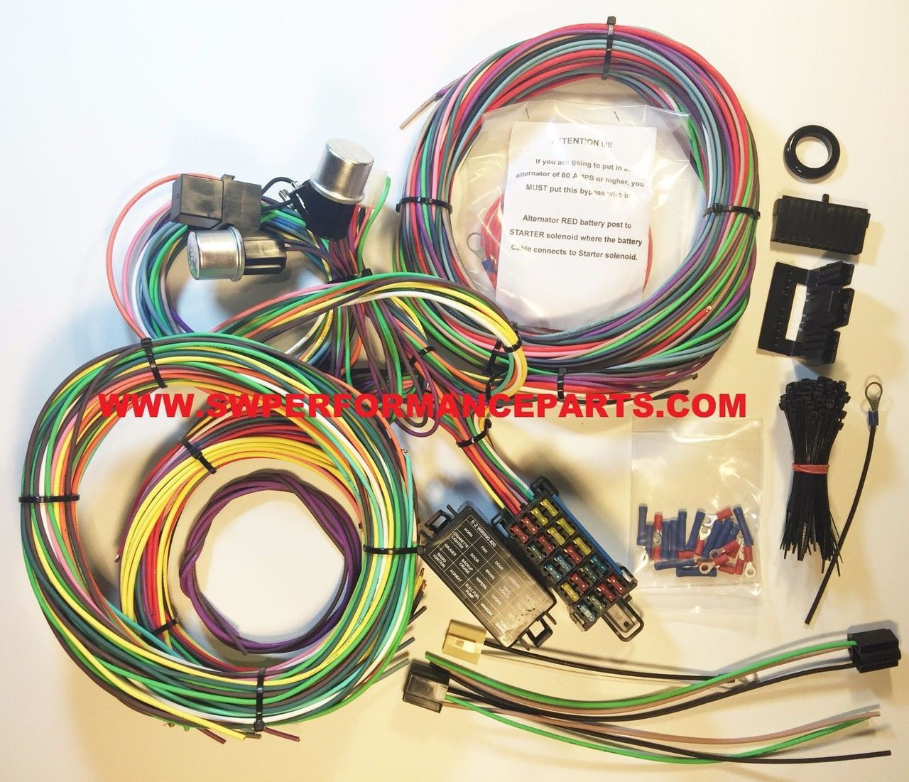 new 21 circuit ez wiring harness mini fuse chevy ford hotrods Ezgo Battery Wiring Diagram departments