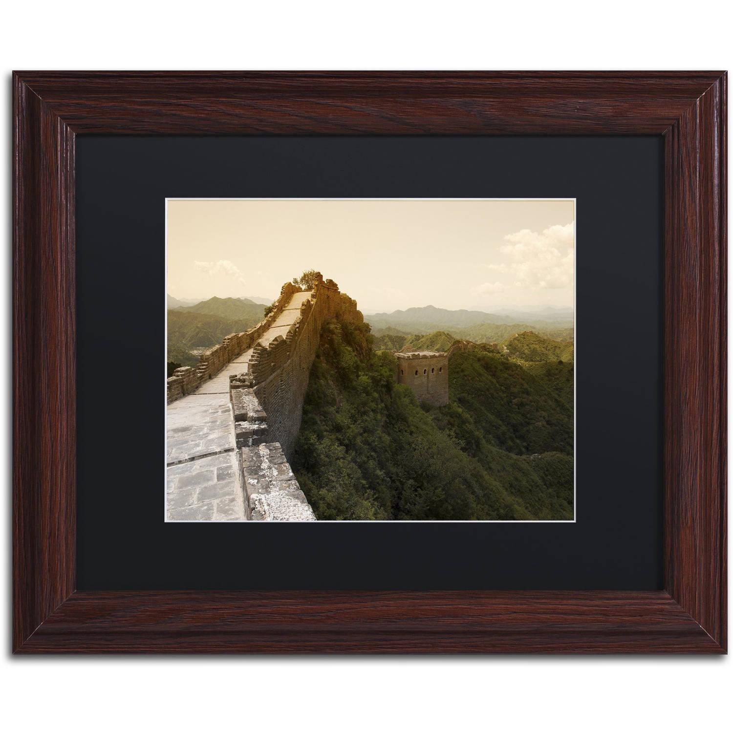 "Trademark Fine Art ""Great Wall X"" Canvas Art by Philippe Hugonnard, Black Matte, Wood Frame"