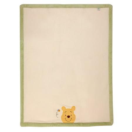 Disney Winnie The Pooh Baby Blanket - Disney Winnie the Pooh Peeking Pooh Super Soft Appliqued Baby Blanket