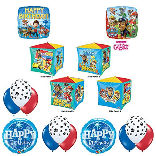 NEW! Cubez PAW PATROL MARSHALL Birthday Balloons Decoration Supplies Party Chase Ryder by Anagram