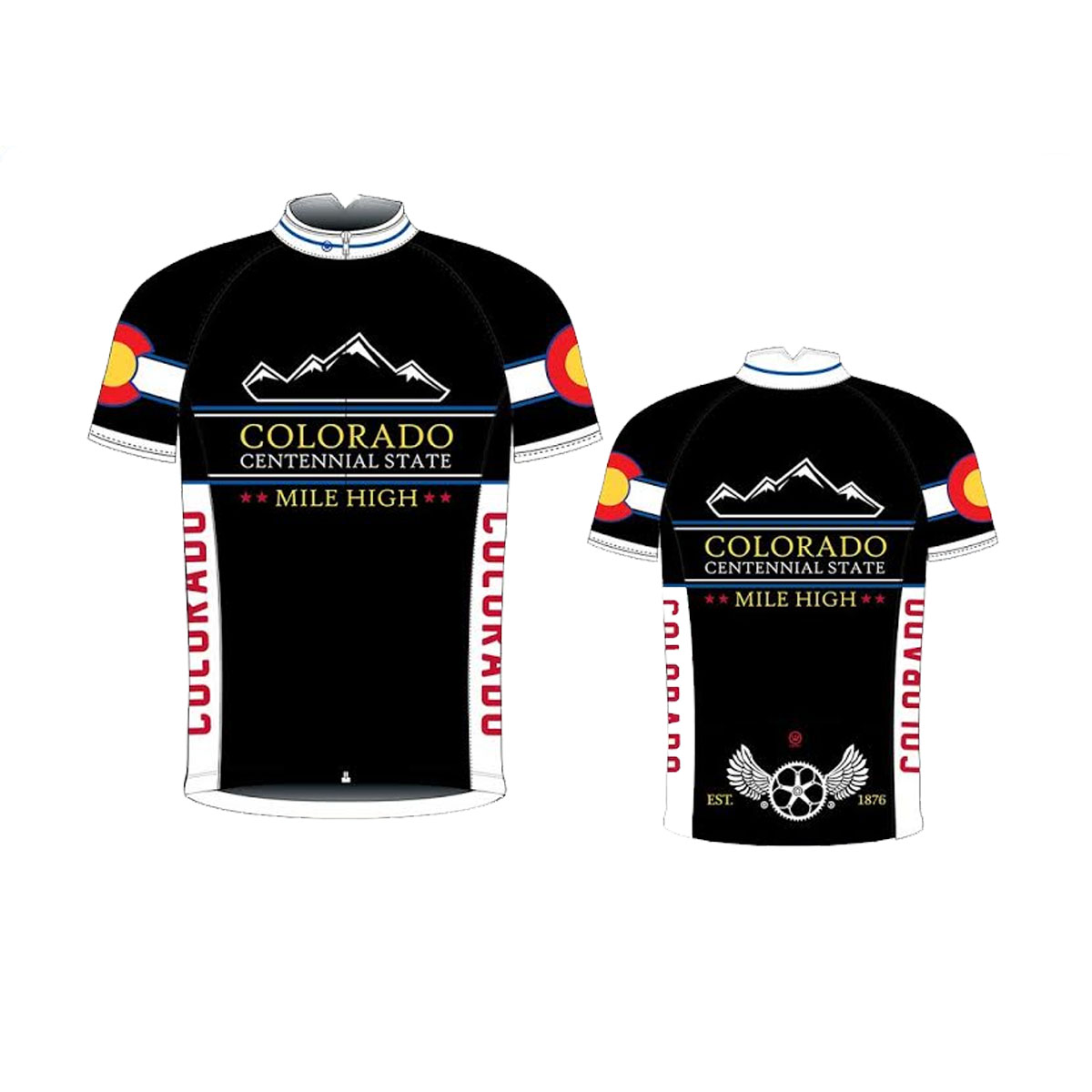 Canari Cyclewear 2015 Men's Colorado Short Sleeve Cycling Jersey - 12244