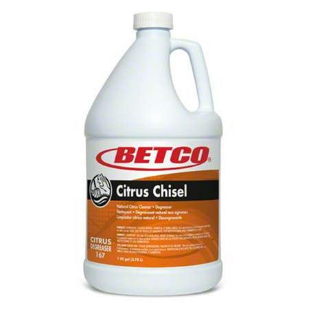 Betco 1670400 PE Citrus Chisel Degreaser & Multi Purpose Cleaner - Case of