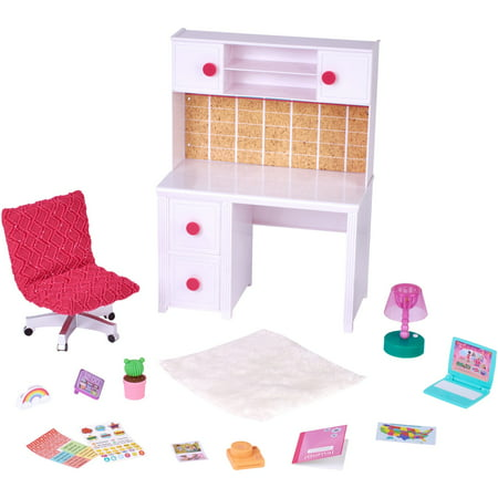 My life as 18-inch desk play set with multiple accessories (18 Inch Doll Cheap Bunk Beds)