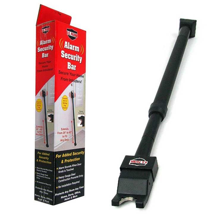 U.S. Patrol Alarm Security Bar extends from 29 to 43