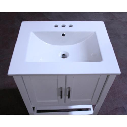legion furniture ceramictop 24inch single sink bathroom vanity walmartcom