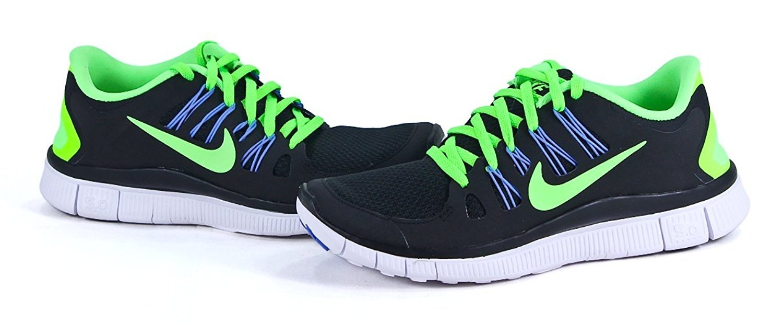 Nike Women's Free 5.0+ black/ volt/ white 580591 034 size 6