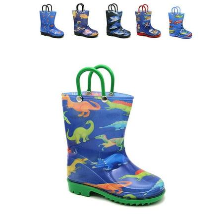Storm Kidz STK8000 Boys Printed Rainboots Parent Double Storm Rain Cover
