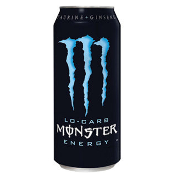 Monster Lo-Carb Energy Drink 16 oz Cans - Pack of 24