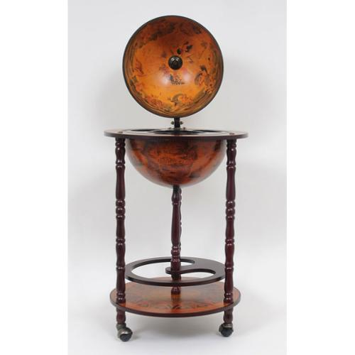 Old Modern Handicrafts Red Nautical Globe Pub Table by Overstock