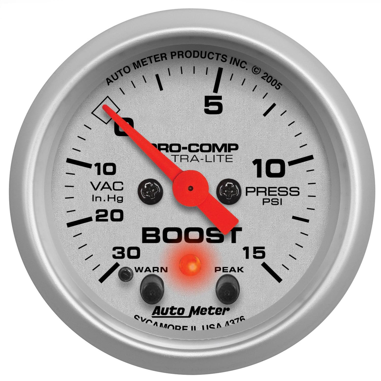 Auto Meter 4376 Ultra-Lite Electric Boost/Vacuum Gauge