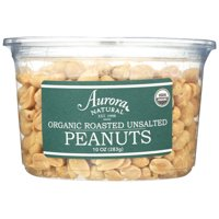 Aurora Natural Products Organic Roasted Unsalted Peanuts, 10 Oz, Pack Of 12