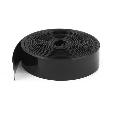 5m 16.4ft PVC Heat Shrink Wrap Tubing 23mm Flat Width f 1xAA - Flare Wrap