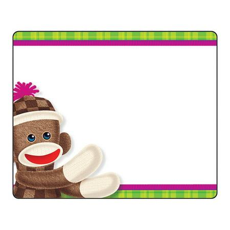 (6 Pk) Sock Monkey Name Tags